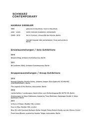 CV HANNAH GIESELER Website - Schwarz Contemporary