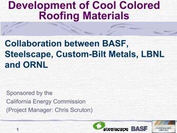 2005-03-03 Steelscape/BASF/Custom-Bilt Presentation [format: PDF]