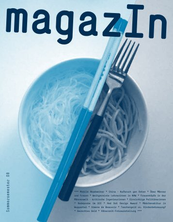 MagazIn SS08.pdf - Bergische Universität Wuppertal