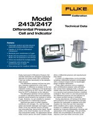 Model 2413/2417 Differential Pressure Cell and Indicator