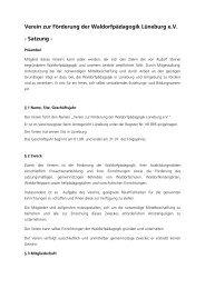 Satzung des VzF - Rudolf Steiner Schule Lüneburg