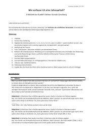 Wie verfasse ich eine Jahresarbeit - Rudolf Steiner Schule Lüneburg