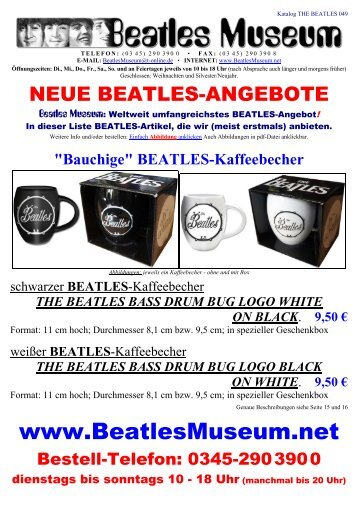 Beatles Museum - Katalog 49 mit Hyperlinks