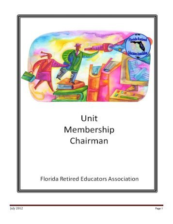 FREA Membership Chairman Booklet - Florida Retired Educators