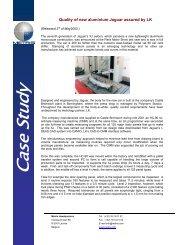 Jaguar uses LK HC90 for inspection of aluminium ... - Nikon Metrology