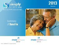 Summary of Benefits 2013 - Simply Healthcare Plans