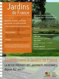 Abonnez-vous à Jardins de France - Société Nationale d ...