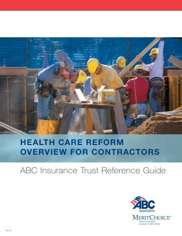 Health Care Reform Overview for Contractors - Associated Builders ...