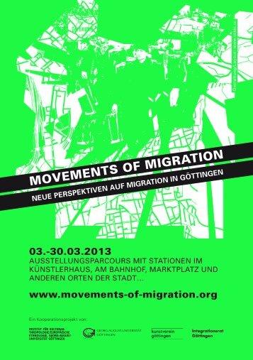 'Movements of Migration' in Göttingen - Georg-August-Universität ...