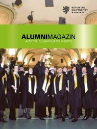 Alumni Magazin 2010 - Bergische Universität Wuppertal