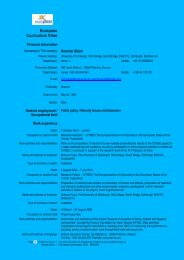 Europass Curriculum Vitae - Centre for Southeast European Studies