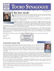 May 2010 Bulletin.indd - Touro Synagogue