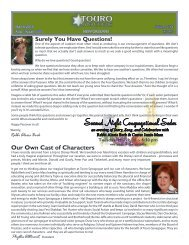 the March Bulletin - Touro Synagogue