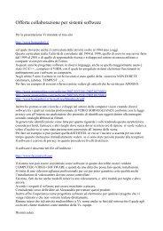 Offerta collaborazione per sistemi software - Bernardotti
