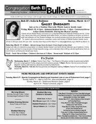 March - April 2012 - Congregation Beth El