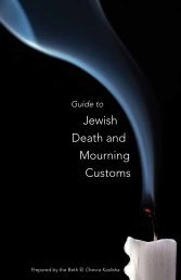 Guide to Jewish Death and Mourning Customs - Congregation Beth El