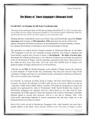 The History of Touro Synagogue's Holocaust Scroll