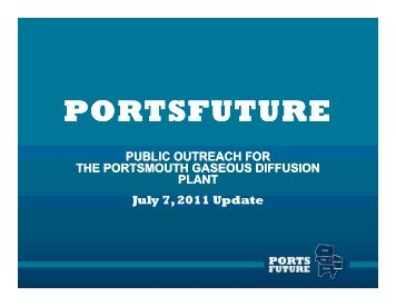 OU Visioning Team Update - Ports-ssab.energy.gov