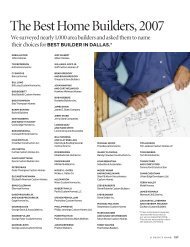 The Best Home Builders, 2007 - D Magazine