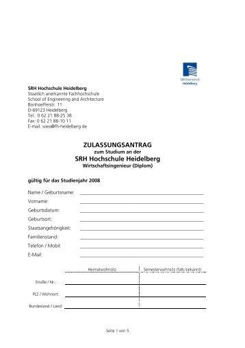 Kopie von Zulassungsantrag - SRH Sky Lounge