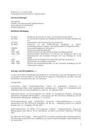 Vita und Publikationen (PDF) - Sky Lounge Sky Lounge