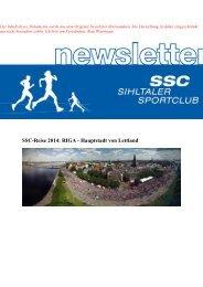Newsletter 1 Laufreise 2014 Riga - SSC Langnau am Albis