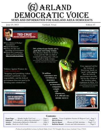 JUN - Garland Democratic Voice