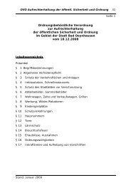 Ordnungsbehördliche Verordnung zur ... - Bad Oeynhausen