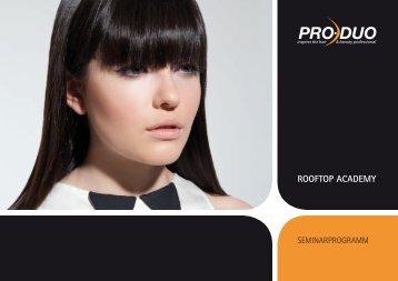 Seminarbroschüre Rooftop Academy - Pro-Duo