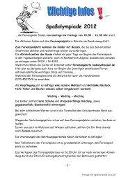 Spaßolympiade 2012 - Bad Oeynhausen