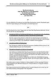 Rechtsverordnung Schulbezirke Grundschulen - Bad Oeynhausen