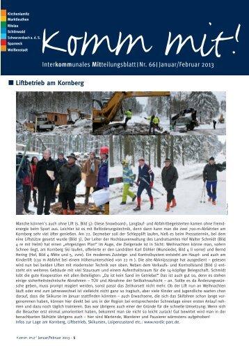 Liftbetrieb am Kornberg Interkommunales Mitteilungsblatt Nr. 66 ...