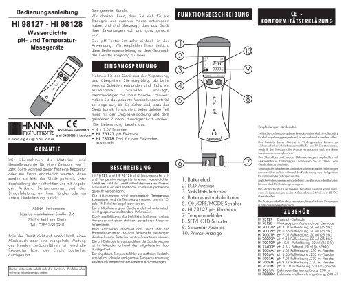 HI 98127-128 2003 - Produktinfo.conrad.com