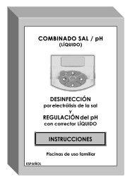 COMBINADO SAL / pH DESINFECCIÓN REGULACIÓNdel pH ...