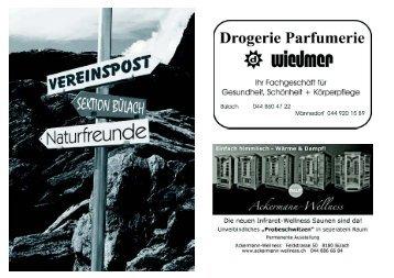 September/Oktober 2011 - Naturfreunde Sektion Bülach