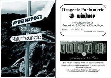 Mai/Juni 2011 - Naturfreunde Sektion Bülach