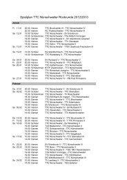 Spielplan Rückrunde 2012/13 - TTC-Nünschweiler