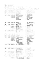 Saison 2009/2010 So 30.08 10.00 Uhr TTV Rimlingen 2 Damen1 ...