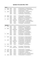 Spielplan Vorrunde 2012 / 2013 - TTC-Nünschweiler