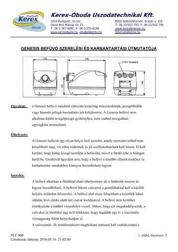 Részletes műszaki adatok - Kerex-Óbuda Kft.