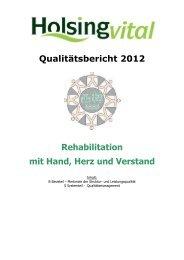 Qualitätsbericht 2012 - Holsing Vital