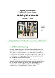 Chronik des Hauses - Holsing Vital
