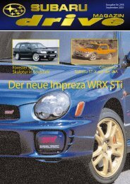 Der neue Impreza WRX STi - Subaru