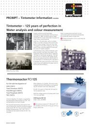 PROMPT – Tintometer Information 10/2010 Tintometer – 125 years ...