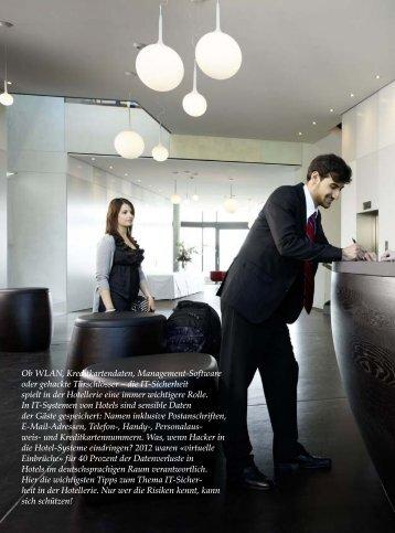 die IT-Sicherheit spielt in der Hotellerie eine - hoteljournal.ch