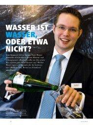 WASSER IST WASSER, ODER ETWA NICHT? - hoteljournal.ch