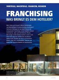 WAS BRINGT ES DEM HOTELIER? - hoteljournal.ch