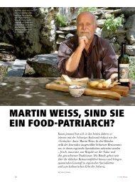 martin Weiss, sind sie ein food-patriarch? - hoteljournal.ch
