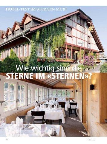 STERNE IM «STERNEN»? - hoteljournal.ch