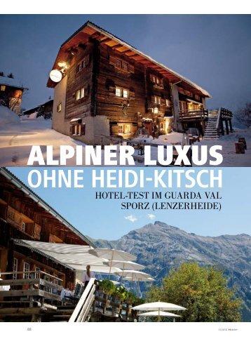 OHNE HEIDI-KITSCH - hoteljournal.ch